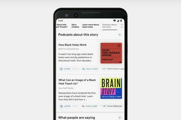 Podcasts come to Search