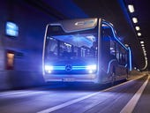 This futuristic self-driving Mercedes-Benz bus just made a landmark journey
