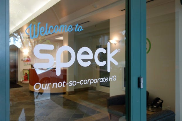 Speck HQ's front door