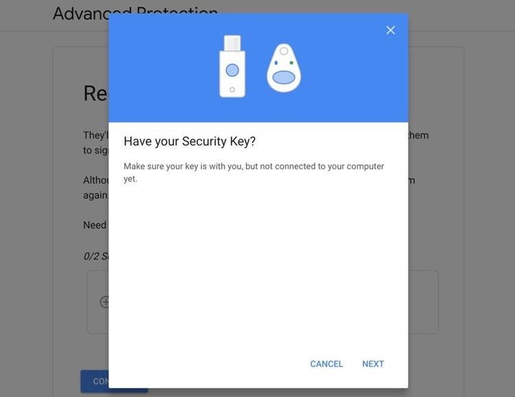 Get your first security key ready