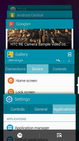 Task switcher on the Note 4