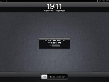 iOS - iPad lost