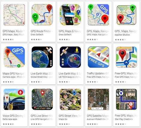 Fake GPS Android apps