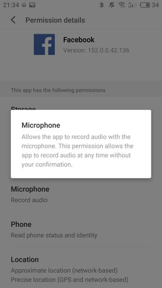 Check microphone permissions