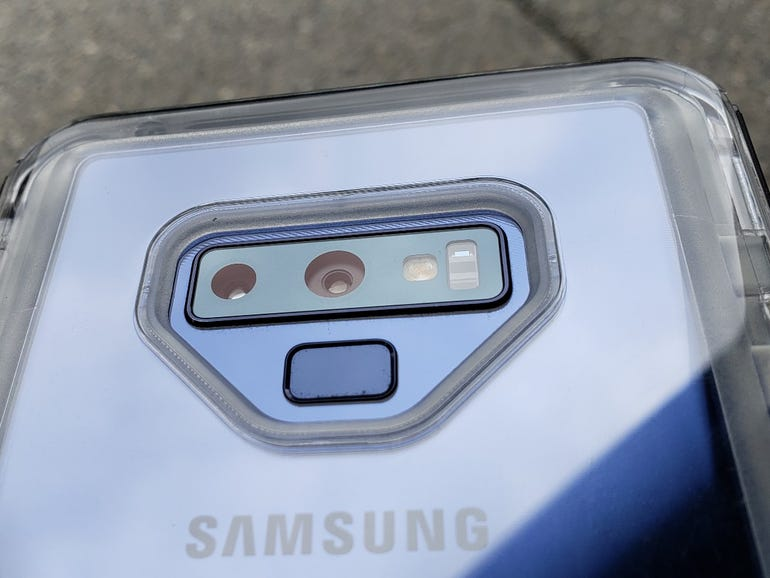 Dual rear cameras and fingerprint sensor