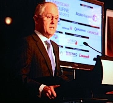 Malcolm Turnbull speaking at CommsDay 2012