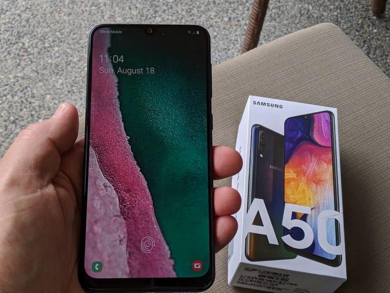 Galaxy A50 in hand