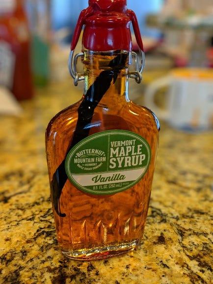 Portrait shot of syrup