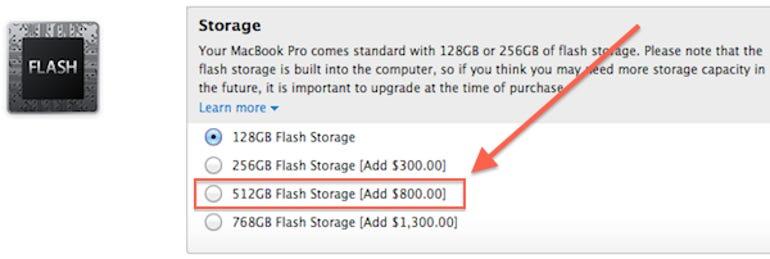 Apple's 512GB MacBook Pro SSD will set you back $800 - Jason O'Grady