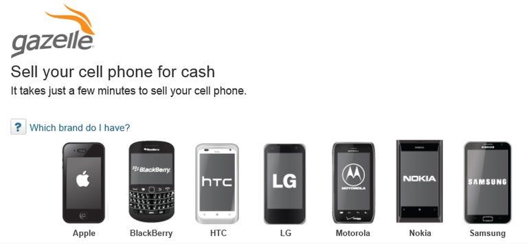 gazelle sells phones