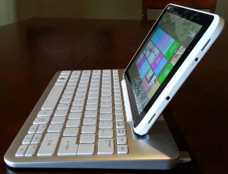 Tablet docked side view