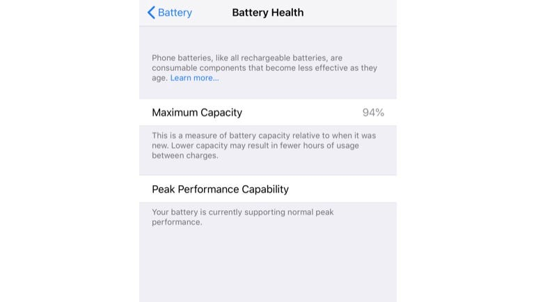 iOS 12 battery details