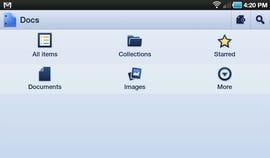 Main document menu