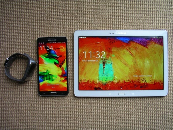 Galaxy Gear, Note 3, and Note 10.1