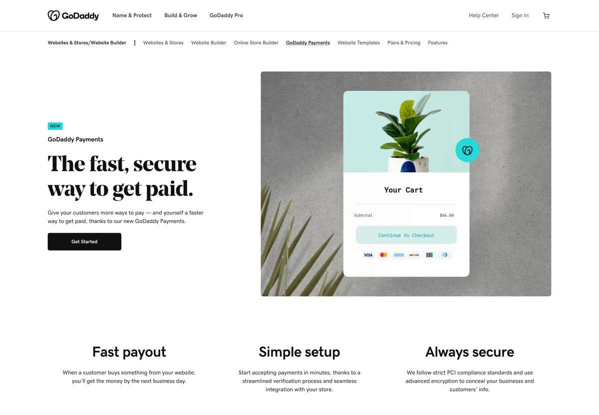 Avec son nouveau service de paiement, GoDaddy veut concurrencer Shopify