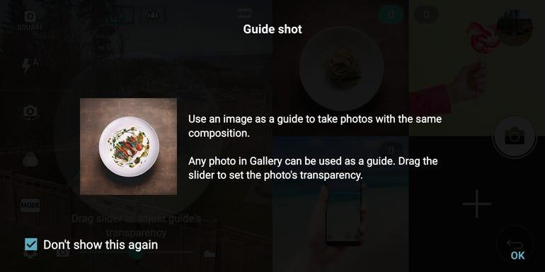 Guide shot option