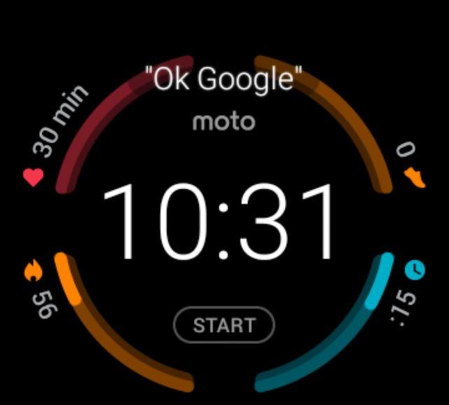 Moto Body watch face