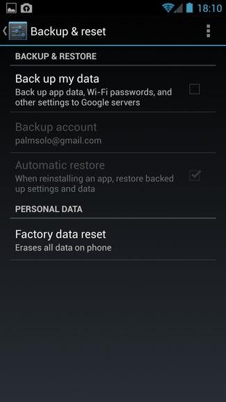 Single backup option on Google Edition One