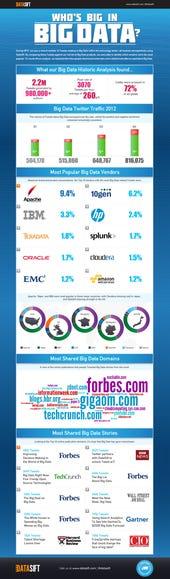 Infographic of Big Data tweets 2012