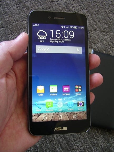 PadFone X smartphone in hand