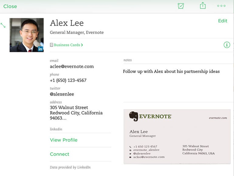 zdnet-linkedin-evernote-ios-cardscan-contact-note