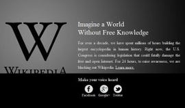 Wikipedia's 'Stop SOPA' protest blackout page