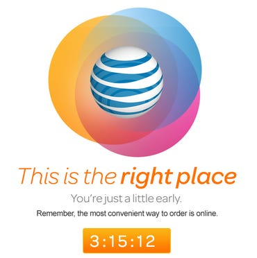 """AT&T's teaser for the iPhone 5c notes that """"This is the right place, you're just a little early"""" - Jason O'Grady"""