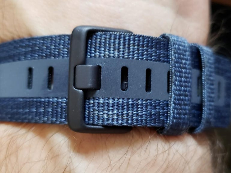 Underside of the woven band