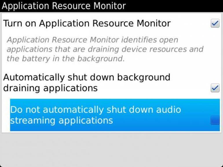 ARM settings