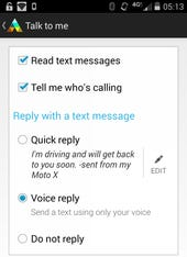 Motorola Assist update adds SMS voice reply and music app launcher