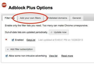 AdBlock Options Page