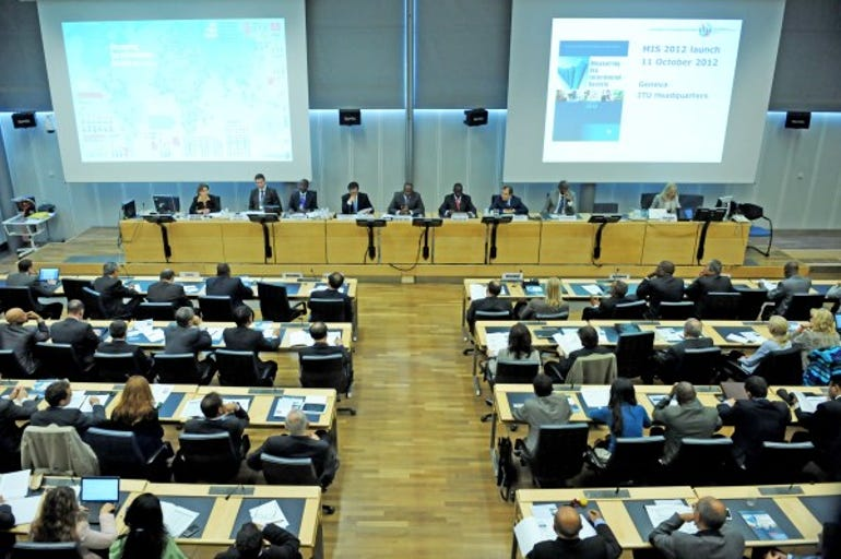 The ITU launching its report, Measuring the Information Society.