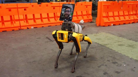 Boston Dynamics Spot robot iPad