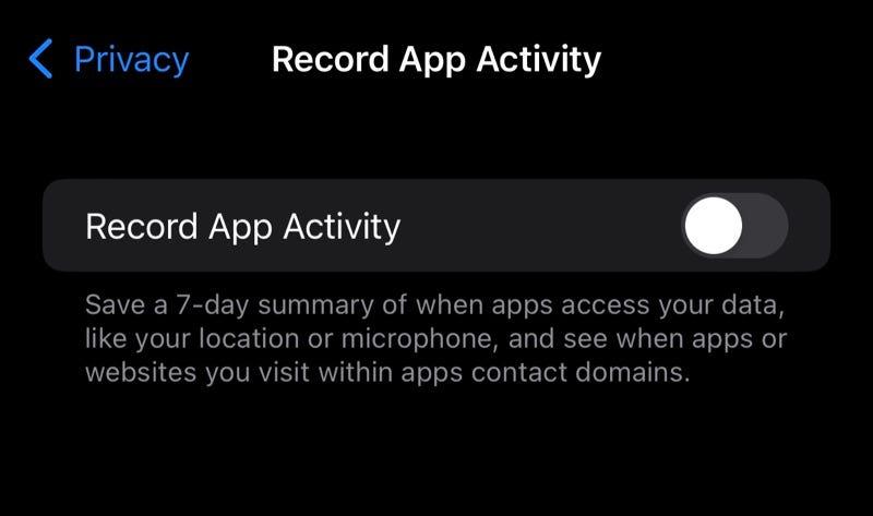 Record App Activity