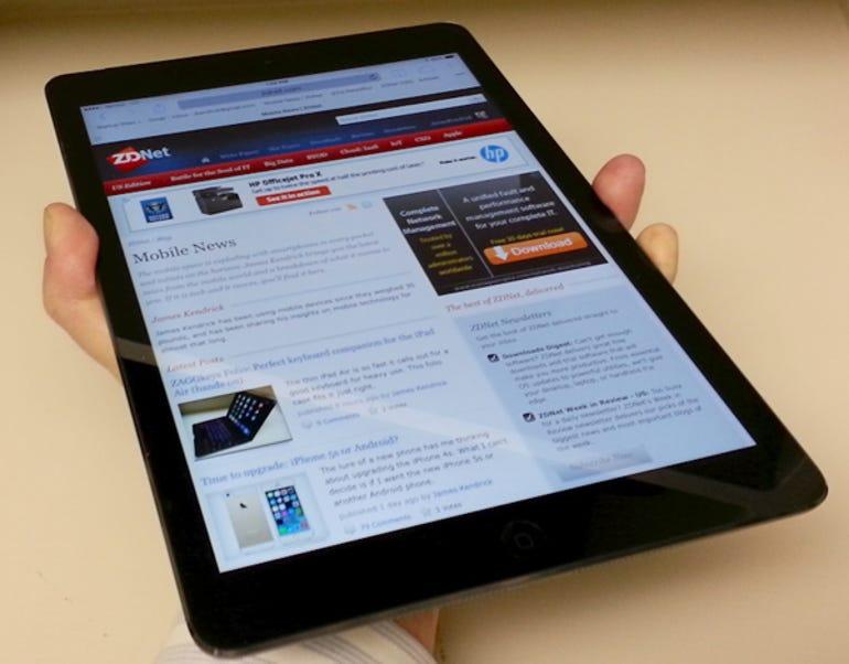 iPad Air palmed