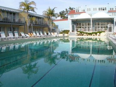 The heat generated by the ClearEdge Power fuel cells can keep the Lafayette Hotel's historic pool heated year-round.