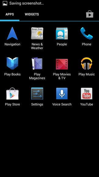 App launcher on Google Edition One