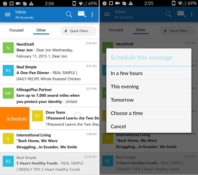 Microsoft Outlook Preview (formerly Acompli)