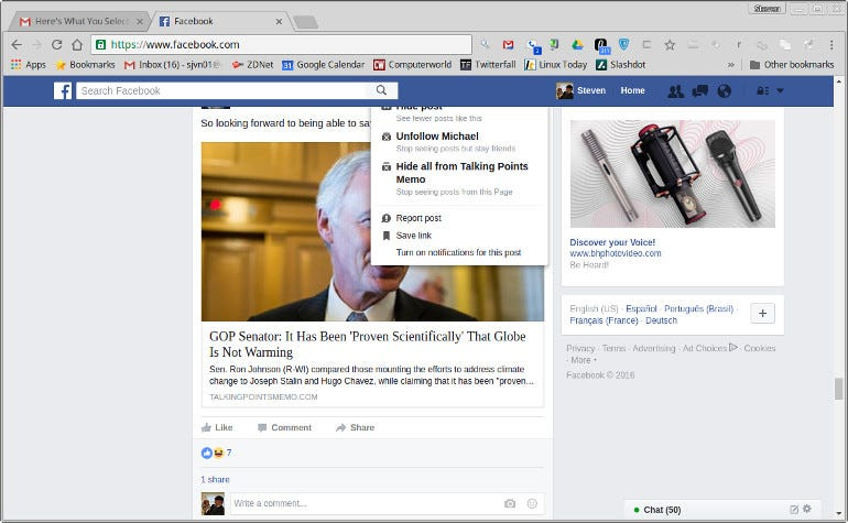 Hide Facebook Posts from specific pages