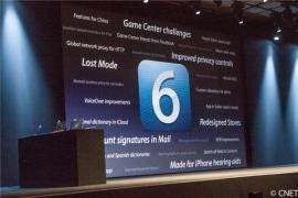 At WWDC, Apple introduced its newest iOS 6. (Credit: James Martin/CNET)