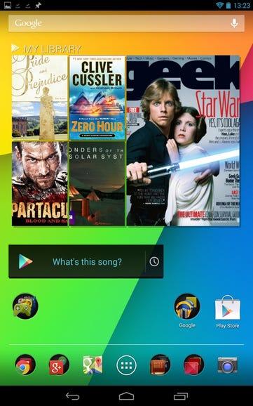 Home screen and Google content widget