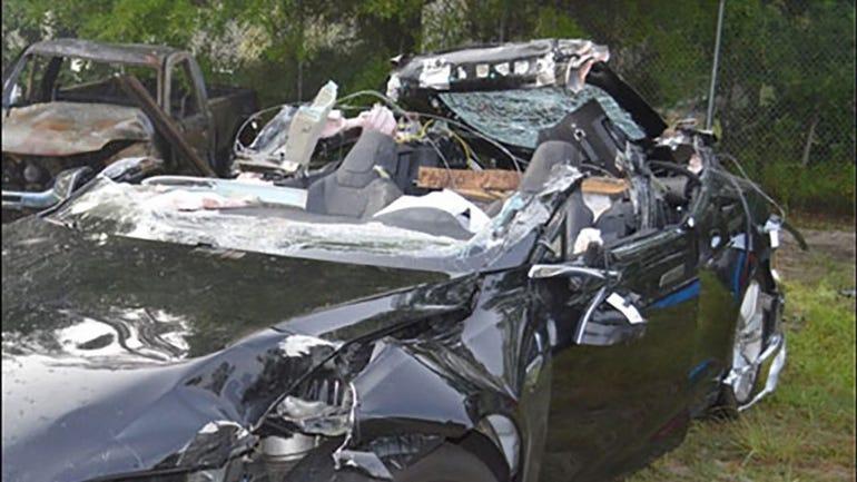 Tesla slams self and driver into big rig