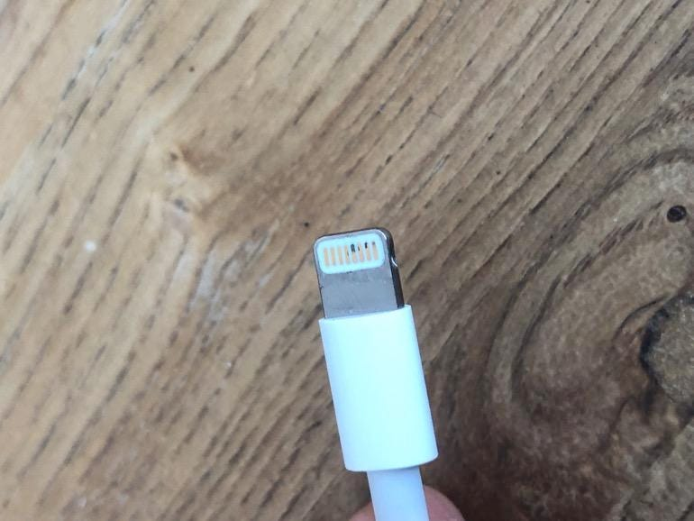 Lightning cable corrosion