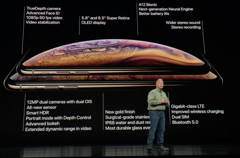 iPhone XS features list