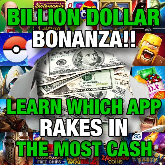 Who makes the most app cash?