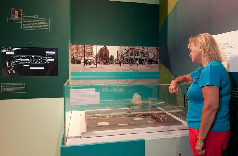 3D printed image of Bond Street station