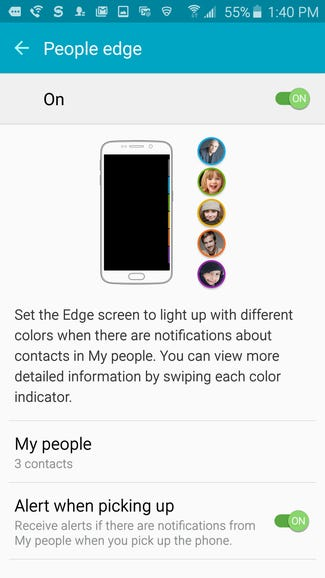 Color coded contacts