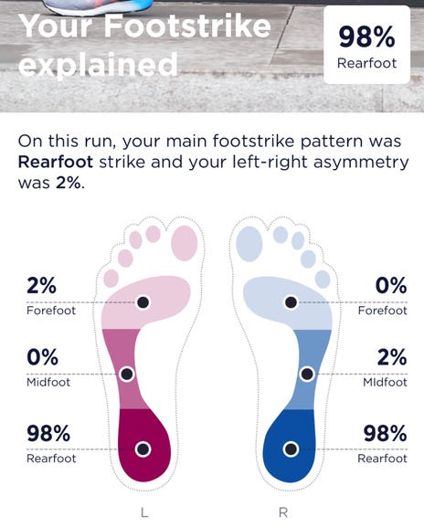 Foot strike mapping