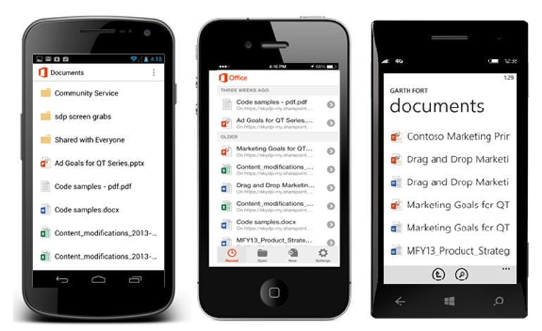 OneDrive for Business mobile