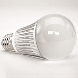 This 35-watt incandescent equivalent LED bulb from Lighting Science reduces energy consumption up to 80  percent and lasts up to 25 times longer. (Image courtesy of Lighting Science Group)